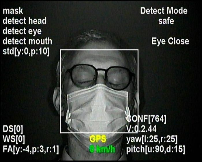 ADAS fatigue detection with mask