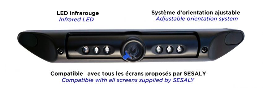 Licence plate camera LED for safety bus and coach_sesaly