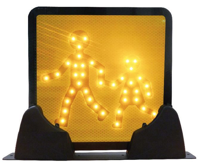 PIC250 &PIC400 led pictogram with supporting base, top mounting for bus and coach.