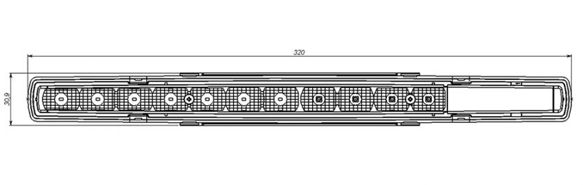 SESA Airglow SESALY - LED rear light bus and coach (drawing2)