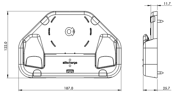 wireless and USB charging for comfort of bus and coach_drawing 2_SESALY